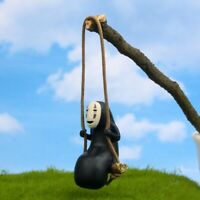 "2"" Cute Anime Model No Face Man Car Pendant Rearview Mirror Hanging Ornament Toy"