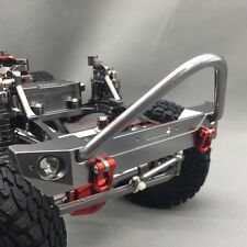 1/10 RC Axial SCX10 CNC Machined Alu. Front Bumper With Tow Shackles Gun Metal