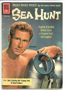 Sea Hunt #10, Gold Key, Lloyd Bridges 1961, TV Silver Age, 6.5 FN+
