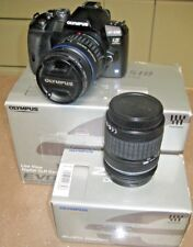 OLYMPUS E-510 CAMERA 4/3rds~ 14-42mm + 40-150mm lenses + accessories, boxed