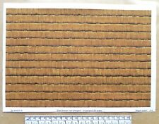 G gauge (1:24 scale) paper 'wood shingles - dark brown' - A4 sheet