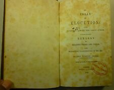 1846 Essay on ELOCUTION John Hanbury Dwyer SPEAKING Daniel Sharp BOOKPLATE