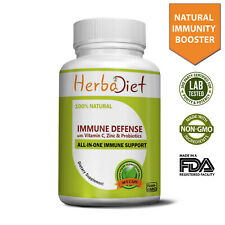 Immune System Booster Defense Elderberry, Echinacea, Vitamin C, Zinc, Probiotics