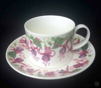 Dunoon Elba Caroline Bessey Fuchsia Cup And Saucer | FREE Delivery UK*