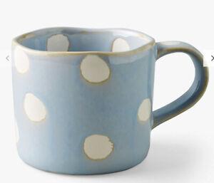 New Anthropologie Peeping Pet Spotted Stoneware Mug Blue Cat