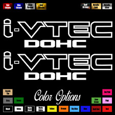 "(2)x i-VTEC DOHC ivtec 9"" emblem Vinyl Sticker Honda Civic Decal Drift JDM 014"