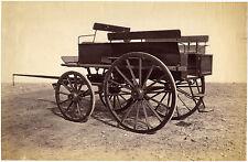 1870s, att. V. Roger, FRENCH wagon, military, LARGE original albumen PHOTOGRAPH