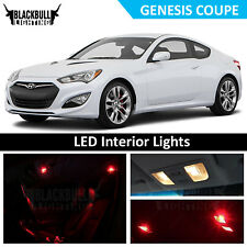 Red LED Interior Lights Accessories Package Kit fits 2010-2016 Genesis Coupe