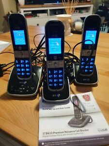 BT Trio Digital Cordless Phones With Answering Machine