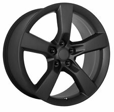 20 inch Chevy Camaro SS OE Style Matte Black Staggered Wheels Rims 5x120 +35 +40