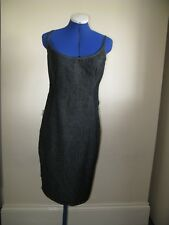 U VERSACE JEANS COUTURE DRESS DENIM ANY OCCASION 28 / 42  international size M