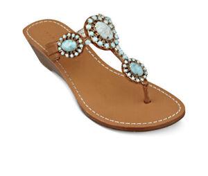 Ivanka Trump Jody Bejewelled Sandals - Size UK 7