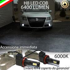 KIT FULL LED VW PASSAT B6 LAMPADE H8 FENDINEBBIA CANBUS 6000K 6400 LUMEN