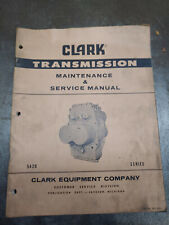 CLARK TRANSMISSION MAINTENANCE & SERVICE MANUAL 5420 SERIES SM-54 REV.4-71