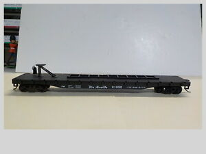 """HO 50"""" Rio Grande Flat Car #21050 For Trailer With EZ Mat Couplers"""
