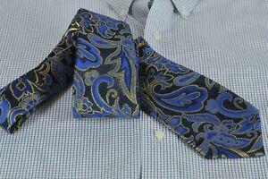 Lord R Colton Masterworks Tie - Bombay Navy & Gold Floral Silk Necktie - New