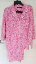 RALPH LAUREN  Pink Paisley Women's Lg Capri Pajama Set #819702 $68 NWT