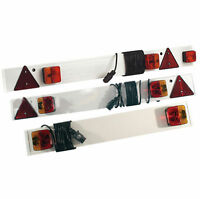 "3FT/ 4FT/ 4FT 6"" TRAILER LIGHT BOARD WITH CABLE TRAILOR CARAVAN CAR LIGHTS PLUG"