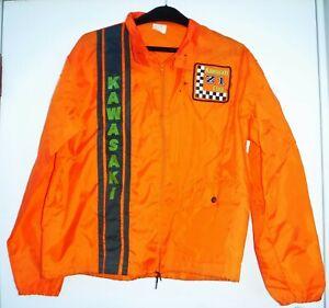 Vintage 70s Kawasaki Z1 Motorcycle Club Wind Breaker Jacket Large NOS U.S.A.