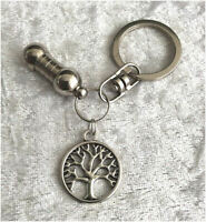 Cremation Jewellery Ashes Urn Keyring w Tree of Life Funeral Keepsake Memorial