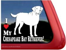 I Love My Chesapeake Bay Retriever | Vinyl Dog Window Decal Sticker