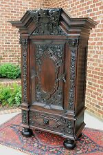 Antique German Baroque Gothic Danziger Schapp Cabinet Cupboard Putti Rare 19th C