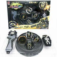 4x Beyblade Metal Fusion Fury Masters 4D System Stadium w/ Launcher Launcher SET