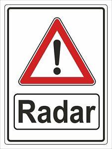Hinweisschild Radarkontrolle Aluverbundplatte 3mm - 30x40cm RA2