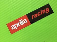Aprilia Racing Longer Badge Decals stickers for Road Bike or fairing PAIR #159