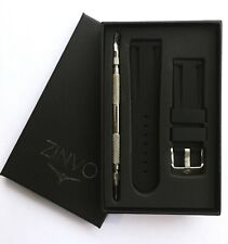 ZINVO 24mm Premium Swiss Watch Rubber Silicone strap + Tool Blade divers Unisex