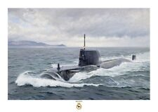 HMS ASTUTE A3 size art print from a painting by Ross Watton