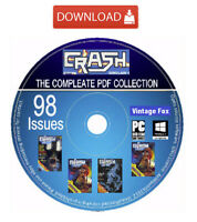 Crash Complete Magazine Collection All 98 Issues Sinclair ZX Spectrum Games Dnld