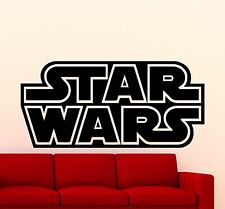 Star Wars Logo Wall Decal Star Wars Words Vinyl Sticker Garage Art Mural (260xx)