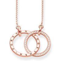 KE1489 New Genuine Thomas Sabo Sterling Silver /Rose Forever Together Necklace
