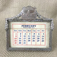 Antique Desk Calendar Michigan Army Soldier Veteran US Military Americana