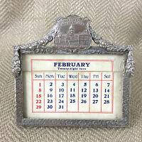 Antico Calendario da Tavolo Michigan Army Soldier Veteran US Militare Americana