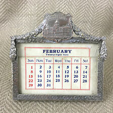 Antique Desk Calendar Michigan Soldiers Home Veterans Americana USA Military