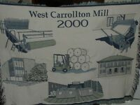 West Carrollton Mill 2000 - Paper Mill Tapestry Throw Blanket - 48 in x 60 in