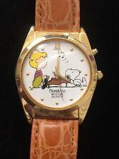 Vintage Musical Charlie Brown & Snoopy Wristwatch Joyful Joyful We Adore Thee