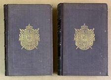1853 E.O reliure armes N.III Archéologie Antiquité 2 vols BEULÉ Acropole Athènes