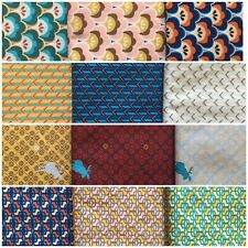 More details for 12 half metres of patchwork fabric 50 x145 wide modern retro 100% cotton
