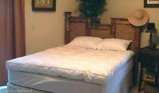 Willow Highlands KING SIZE DOWN MATTRESS-Feather Bed-New/tags/topper/pad