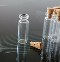 1.4ml 12*28mm Brand New Clear Glass With Cork Tops Tiny Bottle Little Empty Jar