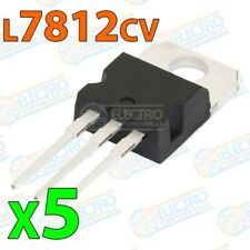 Regulador tension L7812cv L7812 12v 1,5A TO-220 - Lote 5 unidades - Arduino Elec