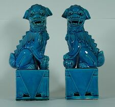 Chinese Foo Turquoise Foo Dogs figurine or statue male and female Lion