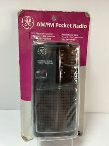 New Old Stock GE 2-Band AM FM  Pocket Radio Receiver 7-2584S Vintage Music
