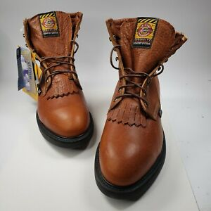 New Original Justin Work Boots Size 9EEE Body Cushion Made In USA Without Box