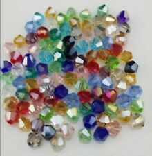 Free Shipping DIY New jewelry 100Pcs Mix 4mm # 5301 Bicone Crystal Beads A7