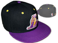 adidas Lakers Basecap schwarz lila L.A.Lakers Original Fitted Cap NBA Fanartikel