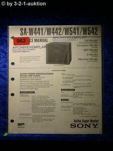 Sony Service Manual Sa W441/W442/W541/W542 (#0962)